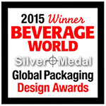 2015 Winner Beverage World Silver Medal Global Packing Design Award